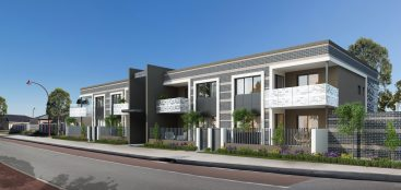 Apartments 3d rendering in Perth