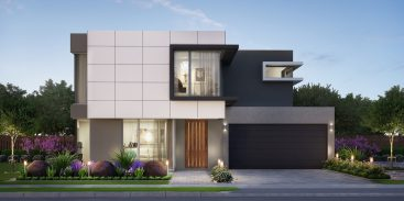 home builder facade artist impression