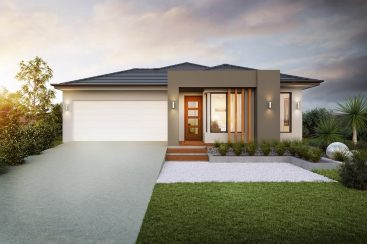 home builder facade exterior 3d render