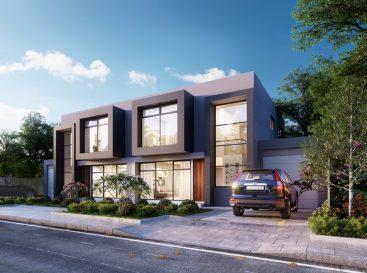 residential duplex exterior